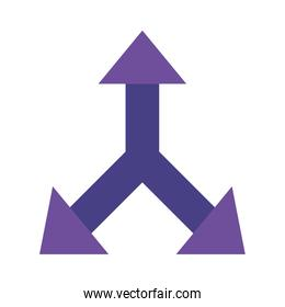 up left and right arrow flat style icon vector design