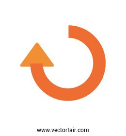 repeat arrow to left direction flat style icon vector design