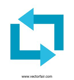 rectangle arrows flat style icon vector design