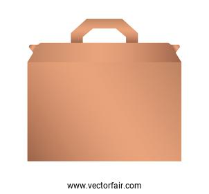 Isolated mockup paper bag vector design
