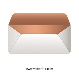 Isolated mockup envelope vector design