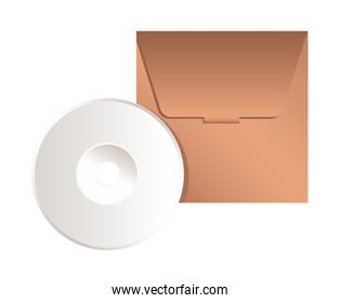 Isolated mockup cd vector design