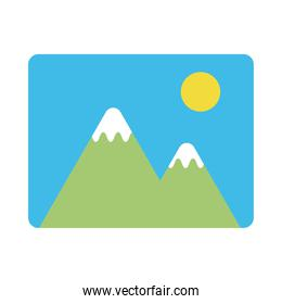 picture file flat style icon