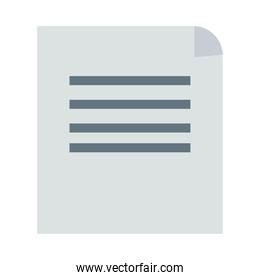 paper document file flat style icon