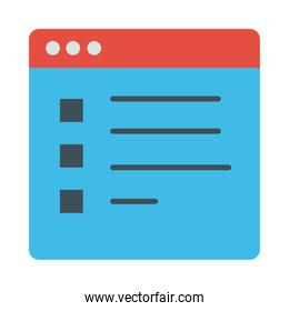 webpage template flat style icon