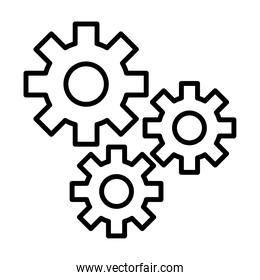 gears settings machine line style icon