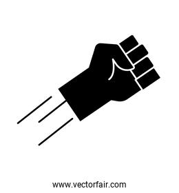hand human fist protesting silhouette style icon