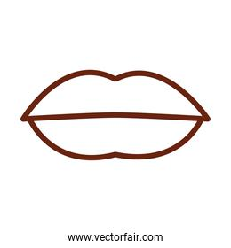 human body mouth lips anatomy organ health line icon style