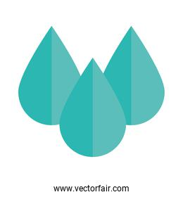 water drops liquid nature flat icon style
