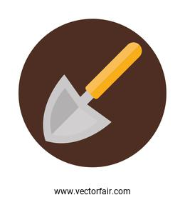 trowel agriculture work equipment farm cartoon block and flat icon