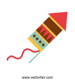fireworks mexican celebration party national flat icon