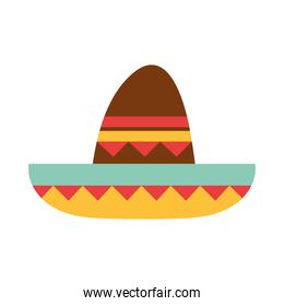 mexican sombrero clothes folk culture traditional flat icon