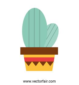 potted cactus decoration culture traditional flat icon