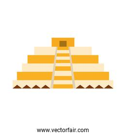 mexican pyramid antique culture folk traditional flat icon