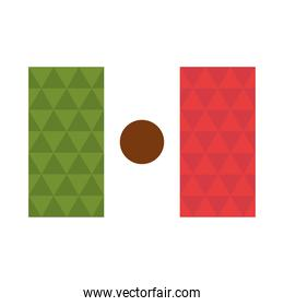 mexican flag national celebration flat icon