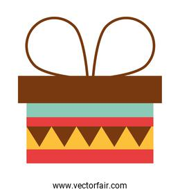 wrapped gift box surprise celebration party flat icon