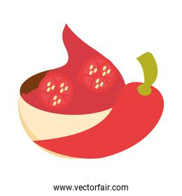 mexican spice chili pepper food flat icon