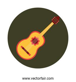 mexico guitar instrument musical celebration festival national block and flat icon