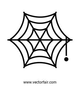 halloween concept, spiderweb icon, silhouette style