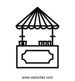 beer vendor booth icon, line style