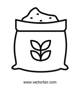 wheat bag icon, line style
