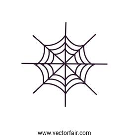 halloween spiderweb cartoon free form line style icon vector design