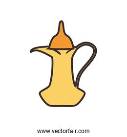 turkish coffee jar line and fill style icon vector design