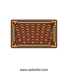 Turkish carpet line and fill style icon vector design