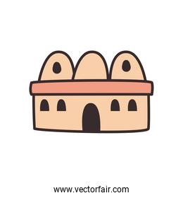 Turkish mosque line and fill style icon vector design
