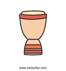 turkish drum line and fill style icon vector design