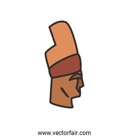 Turkish mount nemrut line and fill style icon vector design