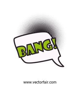 bang bubble line and fill style icon vector design