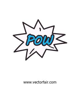 pow explosion bubble line and fill style icon vector design