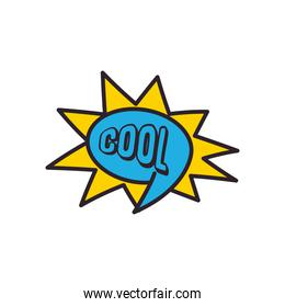 cool explosion bubble line and fill style icon vector design