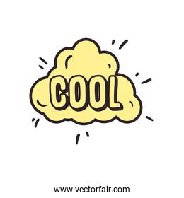 cool cloud bubble line and fill style icon vector design