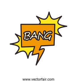 bang explosion bubble line and fill style icon vector design