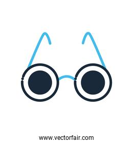 blind glasses line and fill style icon vector design