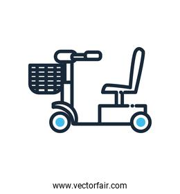 wheelchair line and fill style icon vector design