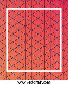 orange gradient and pattern background with frame vector design