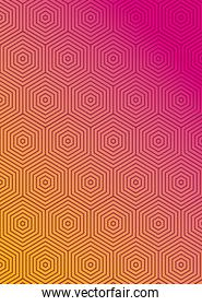 Pink with orange gradient and pattern background vector design