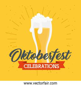 oktoberfest festival celebration with glass of beer