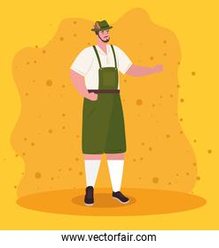man german in national dress, male in traditional bavarian costume