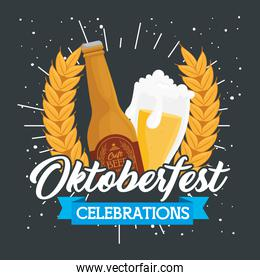 oktoberfest celebration festival with craft beers