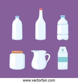plastic or glass cups bottles mockups, bottles jar pitcher box container icons