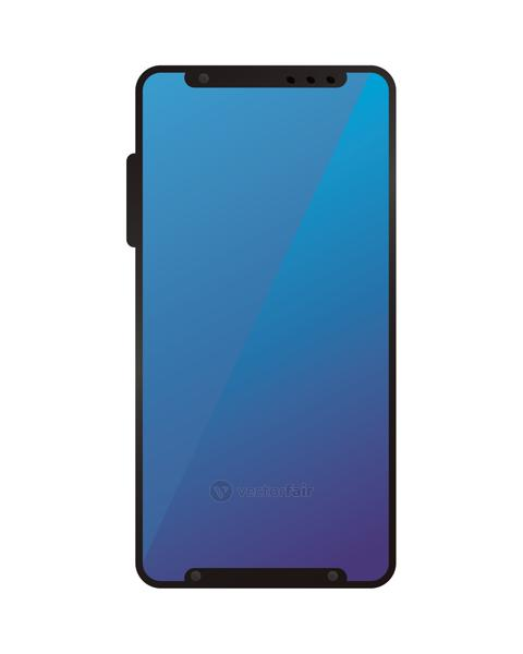 Isolated 3d blue smartphone vector design