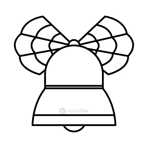 bell with mexican decorations, line style