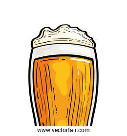 Isolated beer glass vector design
