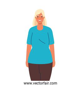 Isolated blond woman cartoon icon