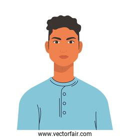 young man human icon isolated