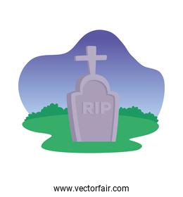 Isolated rip grave vector design